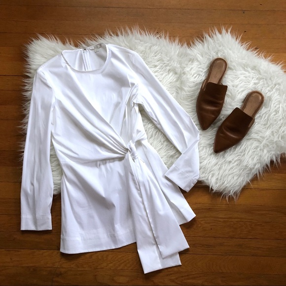 6d6395bc54fff4 COS Tops | White Long Sleeve Tie Waist Top 6 | Poshmark